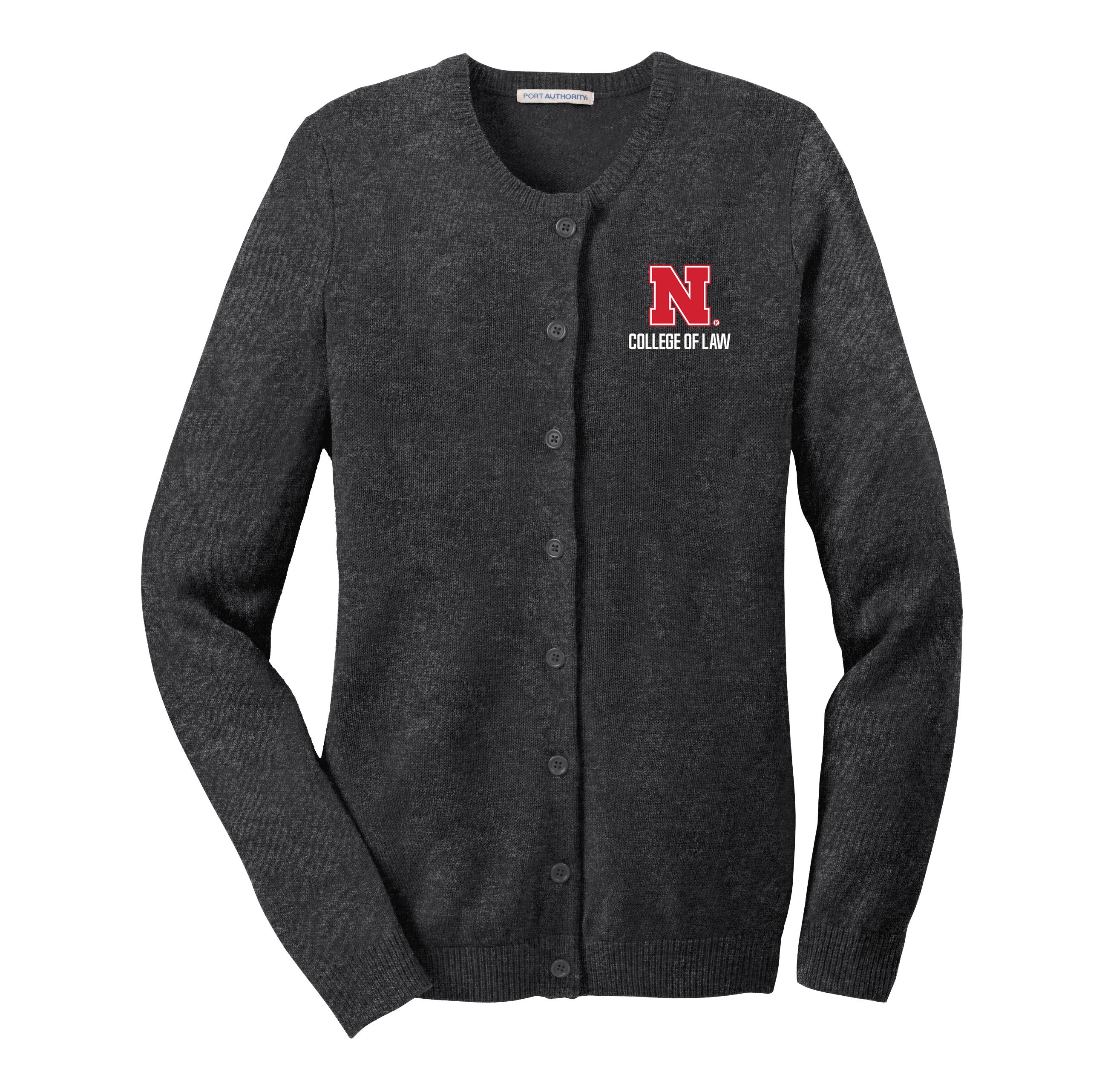 9cd109a52c8 Ladies Jewel Neck Cardigan Sweater - Nebraska College of Law